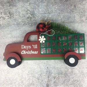Red Truck Days 'til Christmas Magnetic Countdown